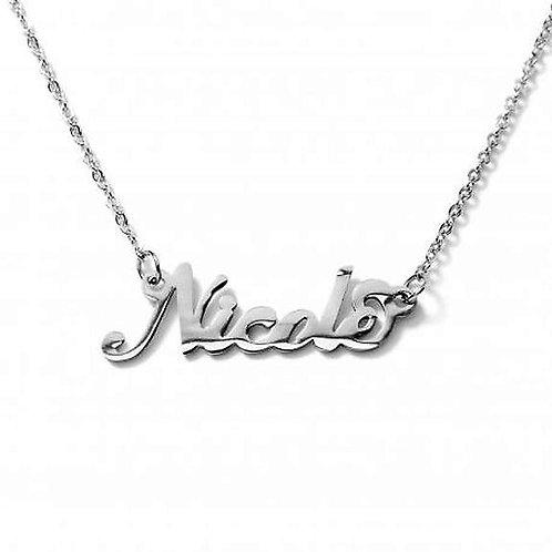 Collana e bracciale con nome Nicole acciaio inossidabile Possibilità 180 nomi