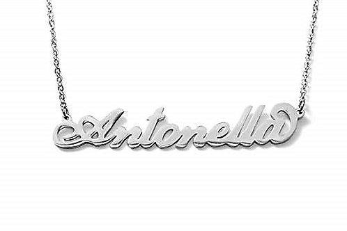 Collana con nome Antonella acciaio inossidabile Possibilità di altri nomi
