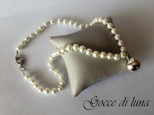 Collana Chiama angeli perle bianche
