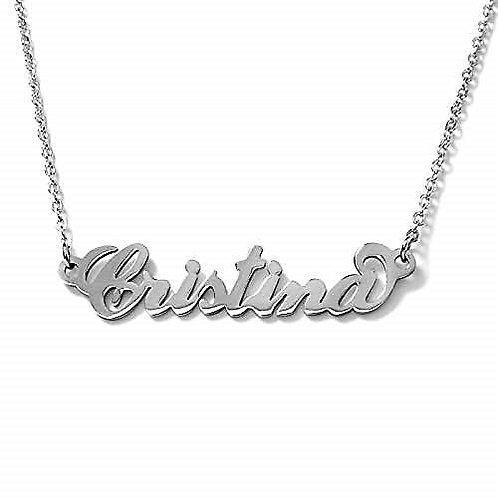 Collana con nome Cristina acciaio inossidabile Possibilità di 180 nomi