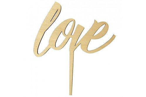 """Cake topper scritta """"love"""""""