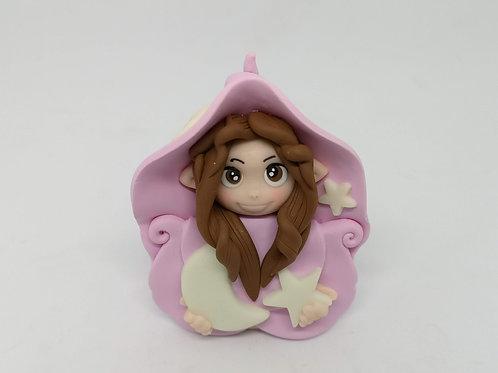 Folletta Dolce notte rosa portafortuna personalizzabile