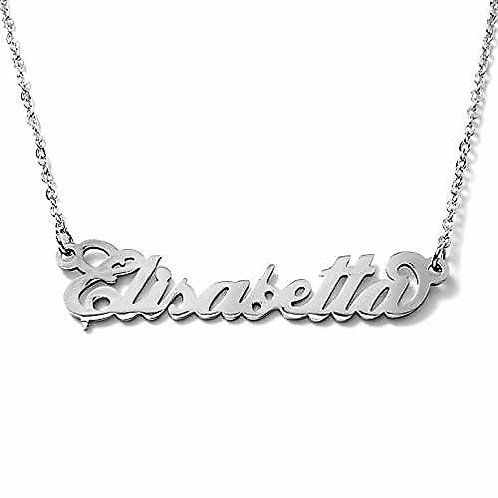 Collana con nome Elisabetta acciaio inossidabile Possibilità di 180 nomi