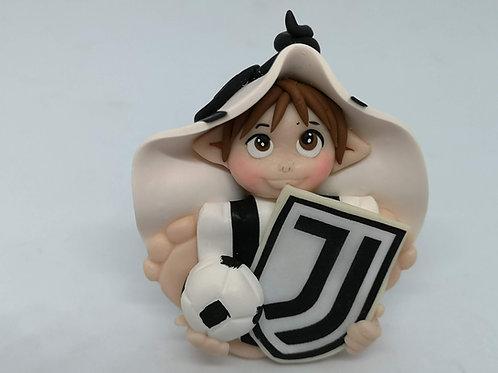 Folletto Calcio Juventus portafortuna personalizzabile