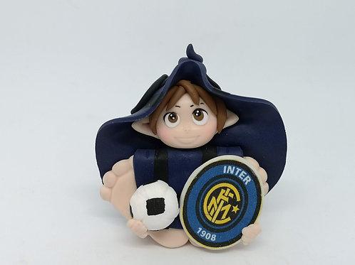 Folletto Calcio Inter portafortuna personalizzabile