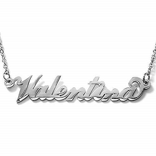 Collana e bracciale con nome Valentina acciaio inossidabile Possibilità 180 nomi