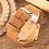 Thumbnail: Orologio in legno naturale chiaro cinturino cuoio naturale