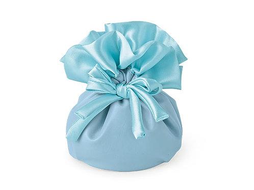 Sacchetto blu con fiocco piccolo
