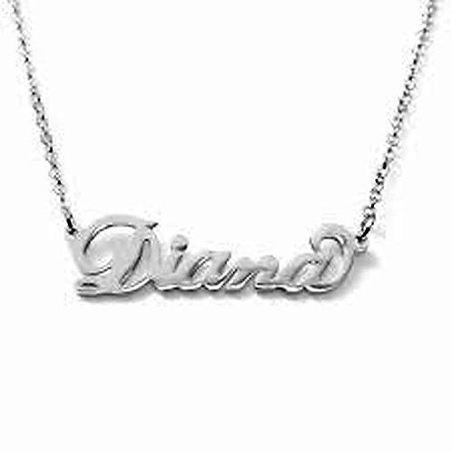Collana con nome Diana acciaio inossidabile Possibilità di 180 nomi