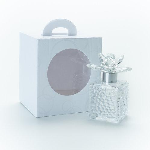 Bottiglia cubo fiore cristallo