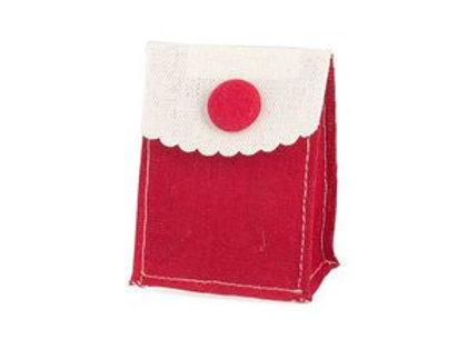 Bustina cotone con bottone rosso