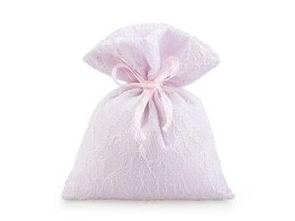 Sacchetto rosa in pizzo grande