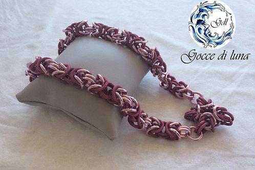 Collana bizantina rosa