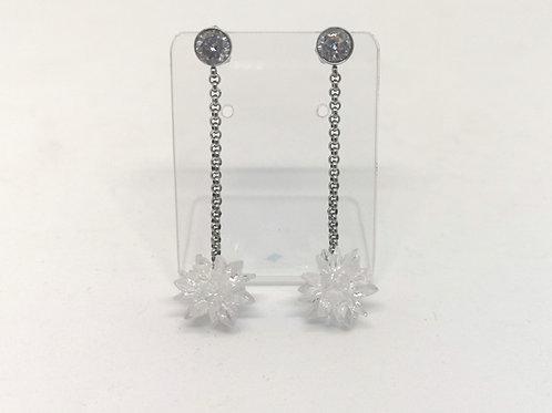 Orecchini ciondolo fiocco di neve 3D swarovski crystal