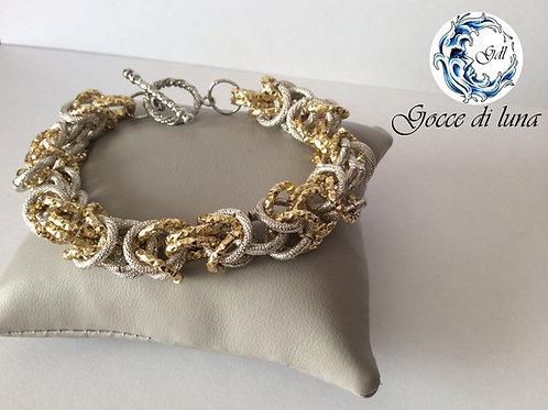 Bracciale bizantina oro e argento