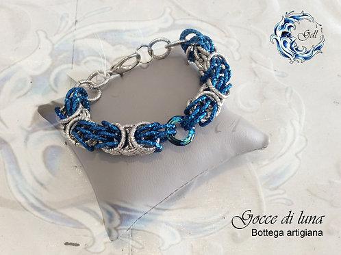 Bracciale trizantina blu