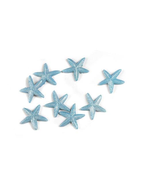 Applicazioni stelle marine celeste in resina