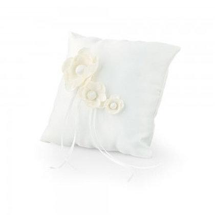 Cuscino portafedi matrimonio satin bianco