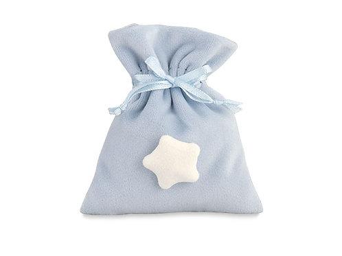 Sacchetto azzurro con stellina