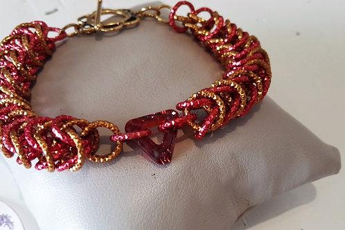 Bracciale persiana rosso