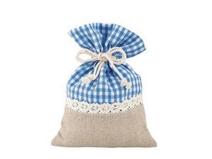 Sacchetto cotone e poliestere blu piccolo