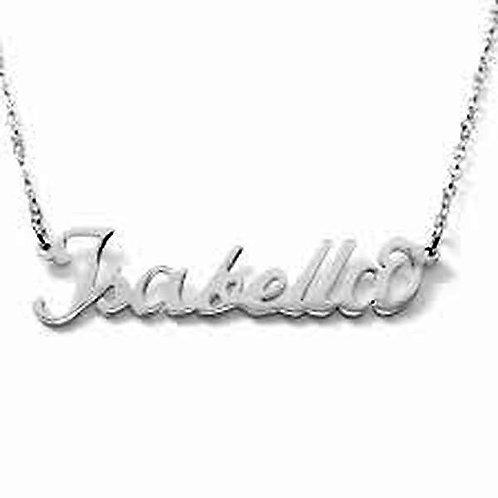 Collana e bracciale con nome Isabella acciaio inossidabile Possibilità 180 nomi