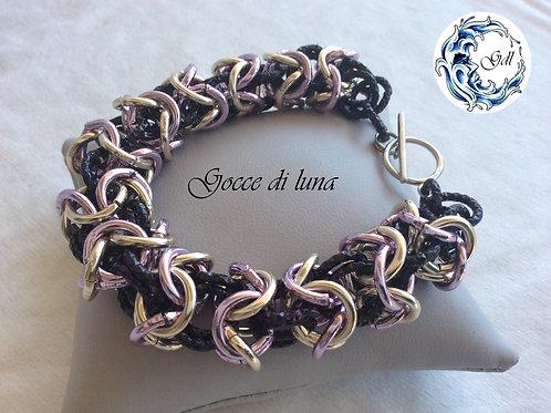 Bracciale turca oro-rosa