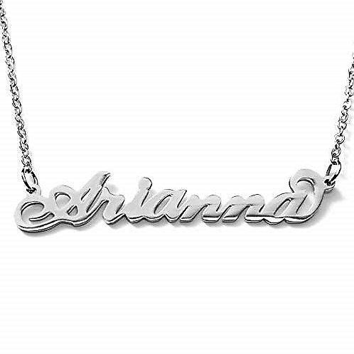 Collana con nome Arianna acciaio inossidabile Possibilità di altri nomi