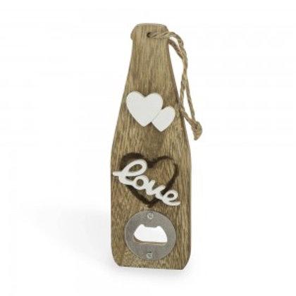 Apribottiglie in legno linea love