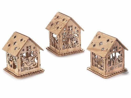 Casette legno con led