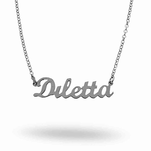 Collana con nome Diletta acciaio inossidabile Possibilità di 180 nomi