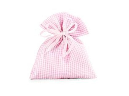Sacchetto rosa a quadretti