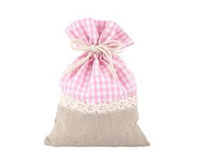 Sacchetto cotone e poliestere rosa
