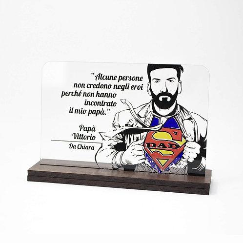 Basetta in plex superman