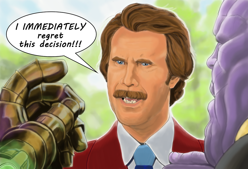Ron Burgundy vs Thanos