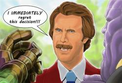 Ron Burgundy vs Thanos