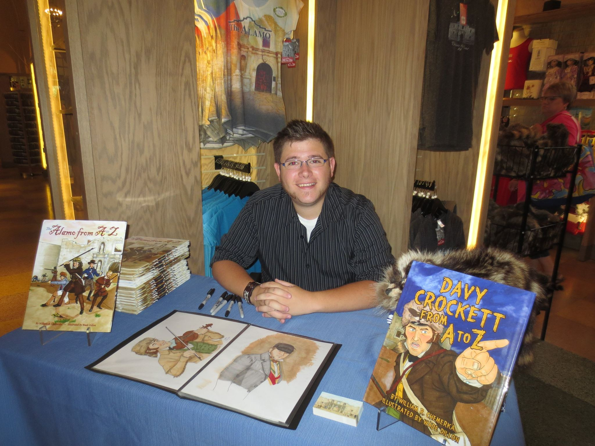 Book signing at the Alamo