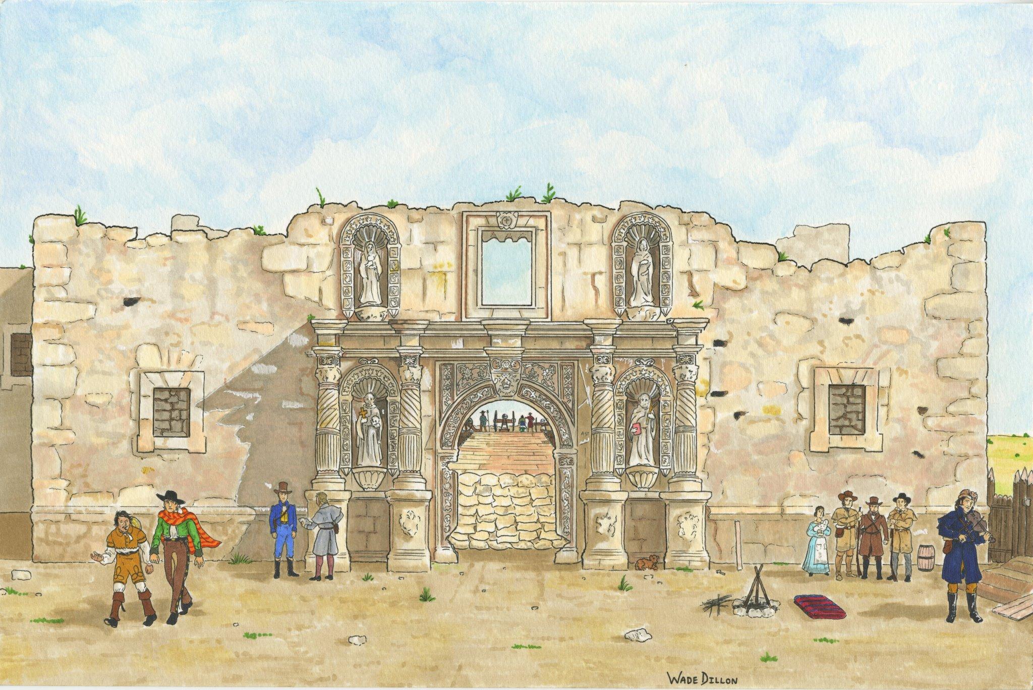 The Alamo in 1836