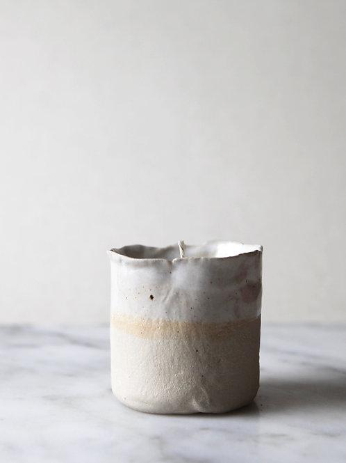 JLA & DIRT white candle