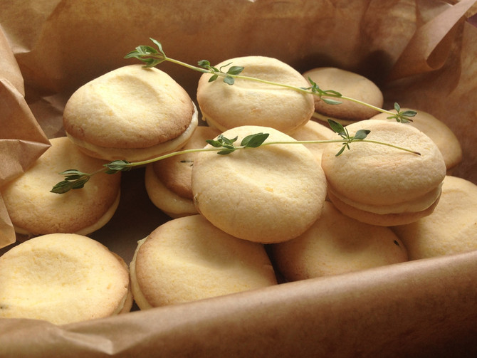 Lemon and Thyme Polenta Creams