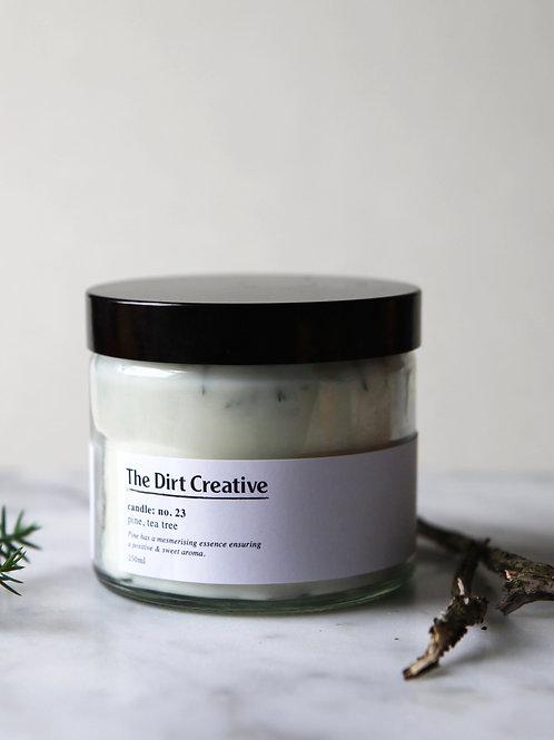 candle: no.23 / pine, tea tree