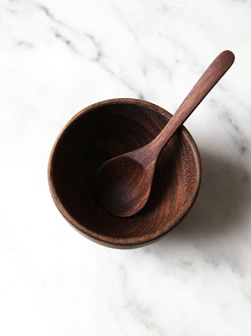 fairtrade bowl & spoon set: siris wood