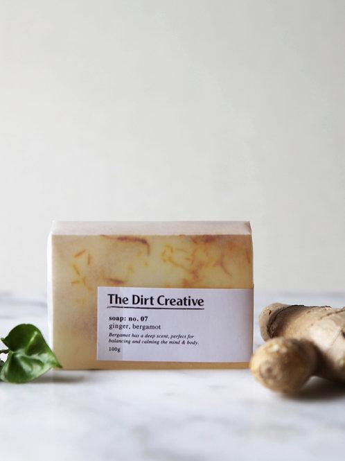 soap: no.07 / ginger, bergamot