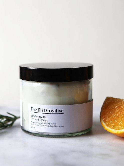 candle: no.36 / rosemary, orange
