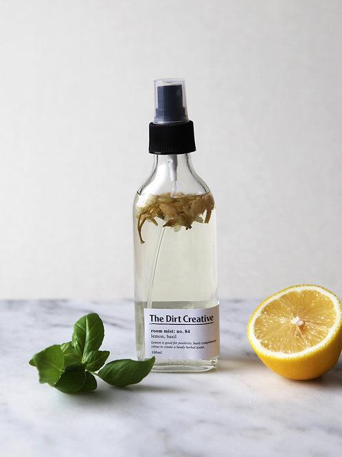 room mist: no.84 / lemon, basil