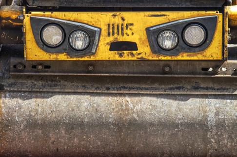 Steamroller on the street