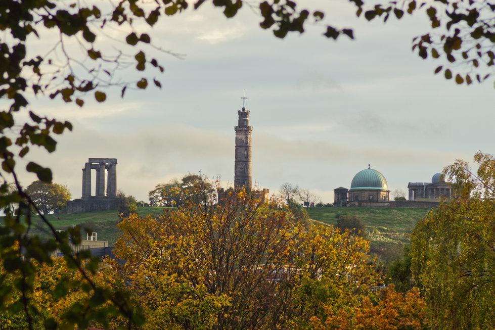 Calton Hill's autumn frame