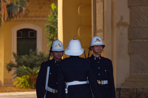 Change of the Guard at the Presidential Palace in Valetta, Malta