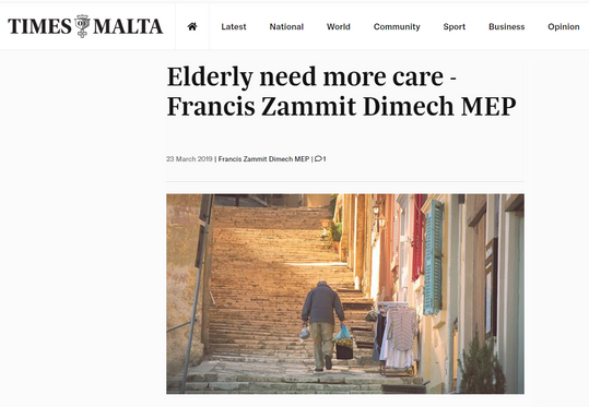 Times of Malta article
