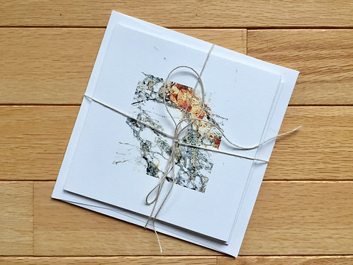 'Mineral' Square 5x5 Greeting Cards 3 Pack